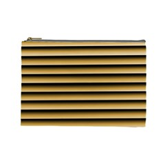 Golden Line Background Cosmetic Bag (large)
