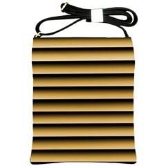 Golden Line Background Shoulder Sling Bags