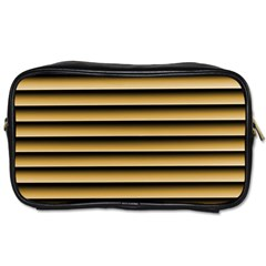 Golden Line Background Toiletries Bags 2 Side