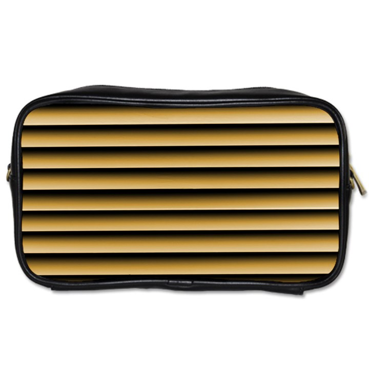 Golden Line Background Toiletries Bags 2-Side