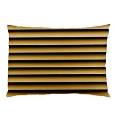 Golden Line Background Pillow Case (two Sides)