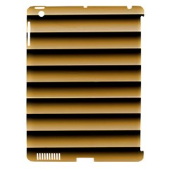 Golden Line Background Apple Ipad 3/4 Hardshell Case (compatible With Smart Cover)