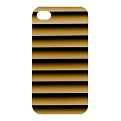 Golden Line Background Apple Iphone 4/4s Premium Hardshell Case