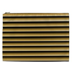 Golden Line Background Cosmetic Bag (xxl)