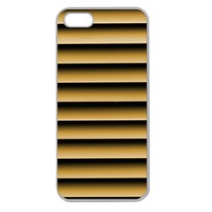 Golden Line Background Apple Seamless Iphone 5 Case (clear)