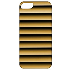 Golden Line Background Apple Iphone 5 Classic Hardshell Case