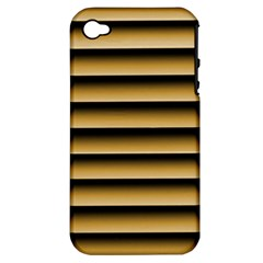 Golden Line Background Apple iPhone 4/4S Hardshell Case (PC+Silicone)