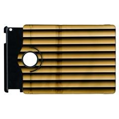 Golden Line Background Apple Ipad 3/4 Flip 360 Case