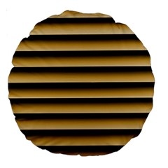 Golden Line Background Large 18  Premium Round Cushions