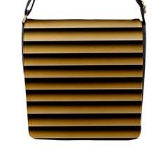 Golden Line Background Flap Messenger Bag (l)