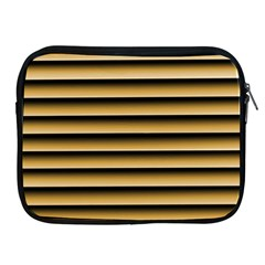 Golden Line Background Apple Ipad 2/3/4 Zipper Cases