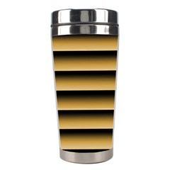 Golden Line Background Stainless Steel Travel Tumblers