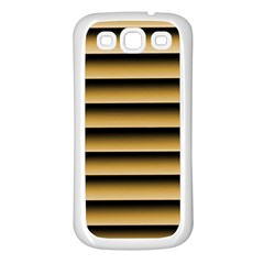 Golden Line Background Samsung Galaxy S3 Back Case (white)