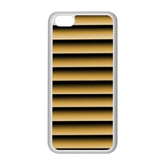 Golden Line Background Apple Iphone 5c Seamless Case (white)