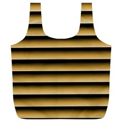 Golden Line Background Full Print Recycle Bags (l)