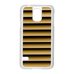 Golden Line Background Samsung Galaxy S5 Case (white)