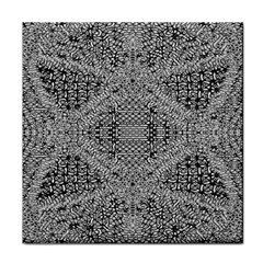 Gray Psychedelic Background Tile Coasters