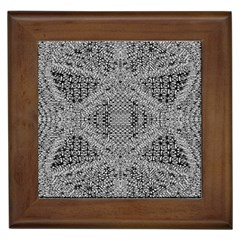 Gray Psychedelic Background Framed Tiles