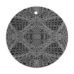 Gray Psychedelic Background Ornament (round)