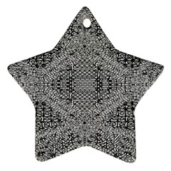 Gray Psychedelic Background Ornament (star)