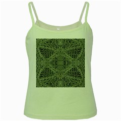 Gray Psychedelic Background Green Spaghetti Tank