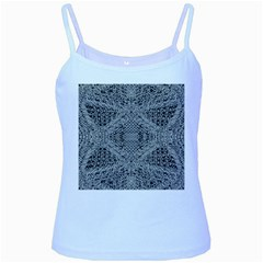 Gray Psychedelic Background Baby Blue Spaghetti Tank