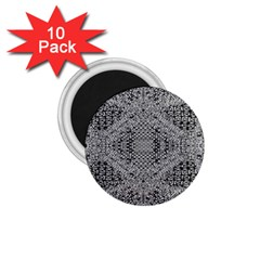 Gray Psychedelic Background 1 75  Magnets (10 Pack)