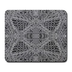 Gray Psychedelic Background Large Mousepads