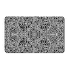 Gray Psychedelic Background Magnet (Rectangular)