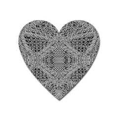 Gray Psychedelic Background Heart Magnet