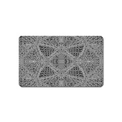 Gray Psychedelic Background Magnet (name Card)