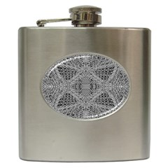 Gray Psychedelic Background Hip Flask (6 Oz)