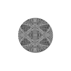 Gray Psychedelic Background Golf Ball Marker (4 Pack)