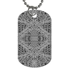 Gray Psychedelic Background Dog Tag (two Sides)