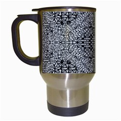 Gray Psychedelic Background Travel Mugs (white)