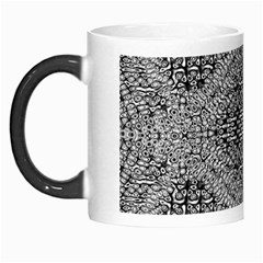 Gray Psychedelic Background Morph Mugs