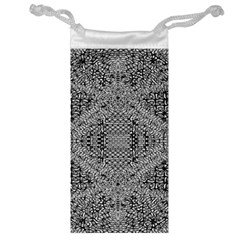 Gray Psychedelic Background Jewelry Bag