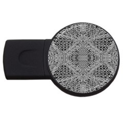 Gray Psychedelic Background Usb Flash Drive Round (4 Gb)
