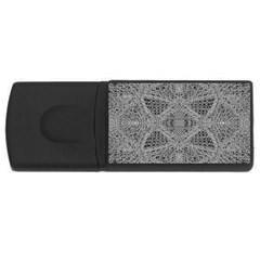Gray Psychedelic Background Usb Flash Drive Rectangular (4 Gb)