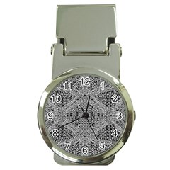 Gray Psychedelic Background Money Clip Watches