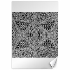 Gray Psychedelic Background Canvas 12  X 18