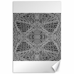 Gray Psychedelic Background Canvas 24  X 36