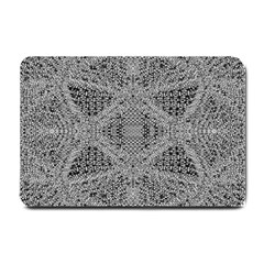 Gray Psychedelic Background Small Doormat