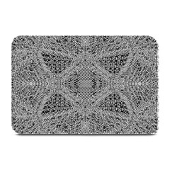 Gray Psychedelic Background Plate Mats