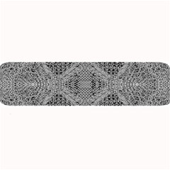 Gray Psychedelic Background Large Bar Mats