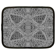 Gray Psychedelic Background Netbook Case (large)