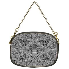 Gray Psychedelic Background Chain Purses (two Sides)
