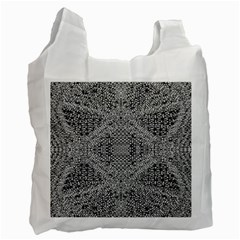 Gray Psychedelic Background Recycle Bag (two Side)
