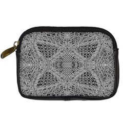 Gray Psychedelic Background Digital Camera Cases