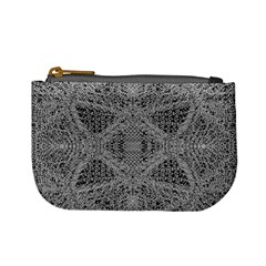 Gray Psychedelic Background Mini Coin Purses